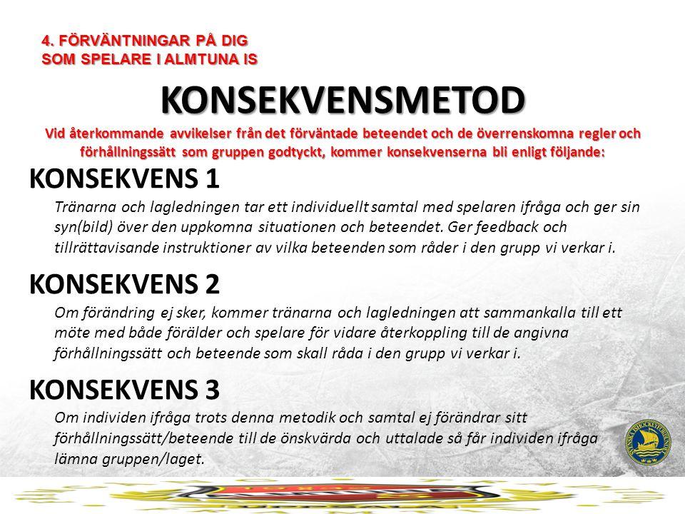 4. FÖRVÄNTNINGAR PÅ DIG SOM SPELARE I ALMTUNA IS