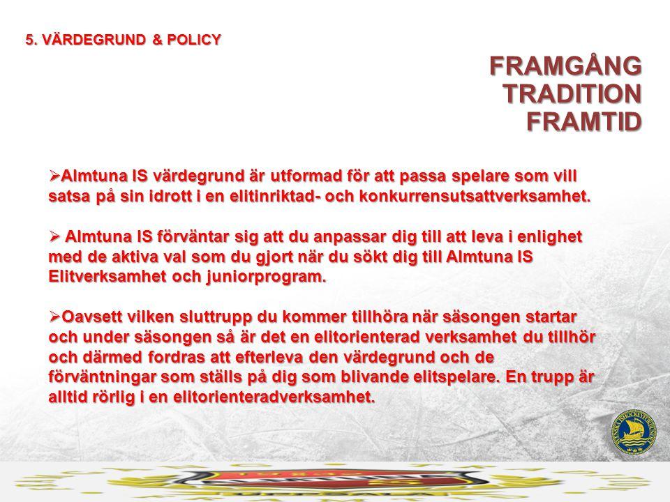 FRAMGÅNG TRADITION FRAMTID