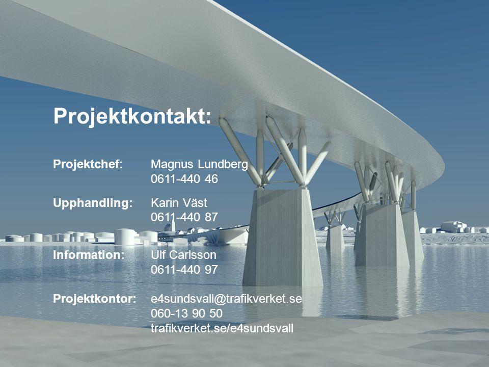 Projektkontakt: Projektchef: Magnus Lundberg 0611-440 46