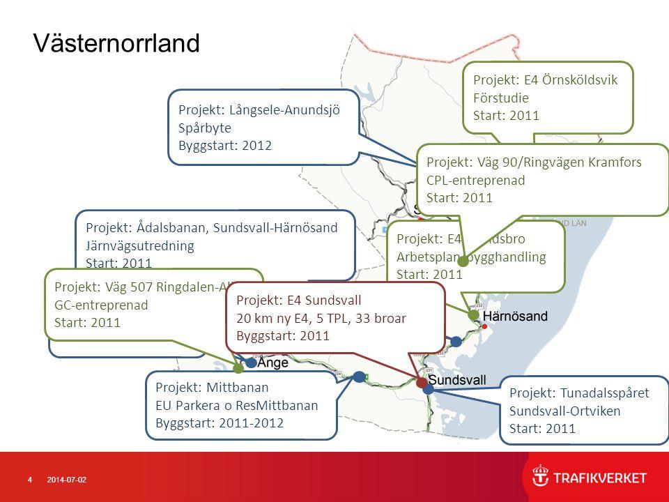 Västernorrland Projekt: E4 Örnsköldsvik Förstudie Start: 2011
