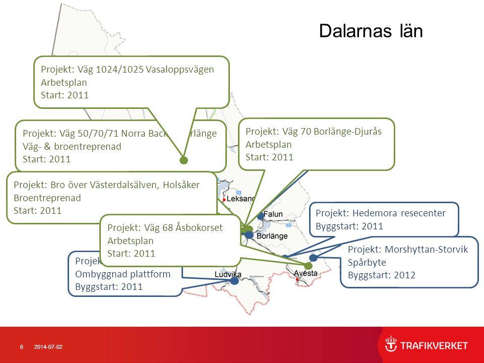 Dalarnas län Projekt: Väg 1024/1025 Vasaloppsvägen Arbetsplan Start: 2011.