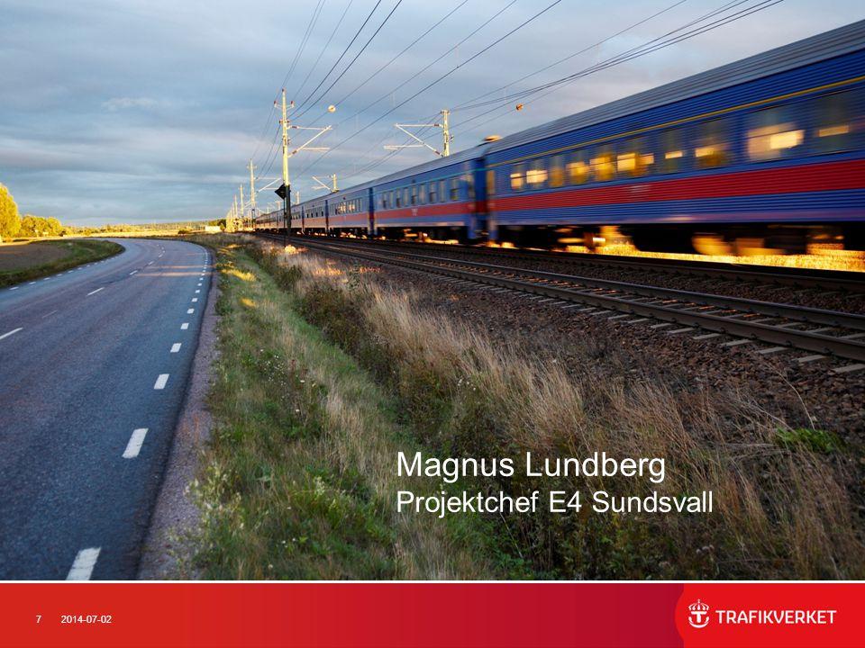 Magnus Lundberg Projektchef E4 Sundsvall
