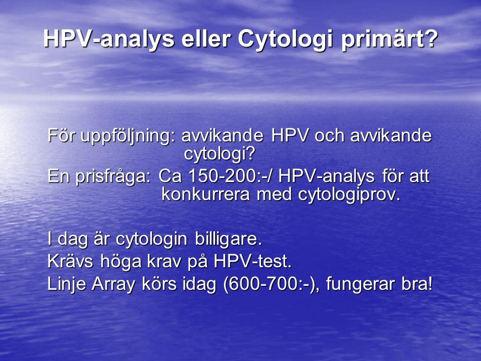 HPV-analys eller Cytologi primärt