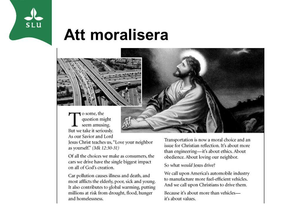 Att moralisera