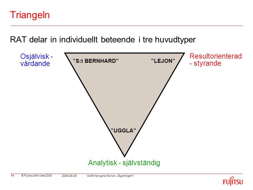 Triangeln RAT delar in individuellt beteende i tre huvudtyper