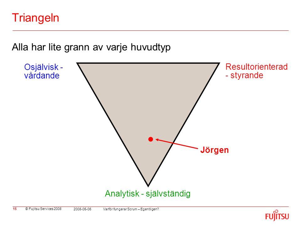 Triangeln Alla har lite grann av varje huvudtyp Osjälvisk - vårdande