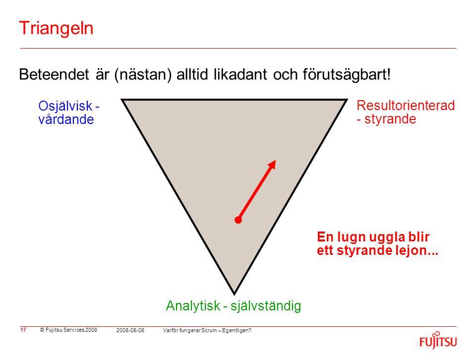 Triangeln Beteendet är (nästan) alltid likadant och förutsägbart!