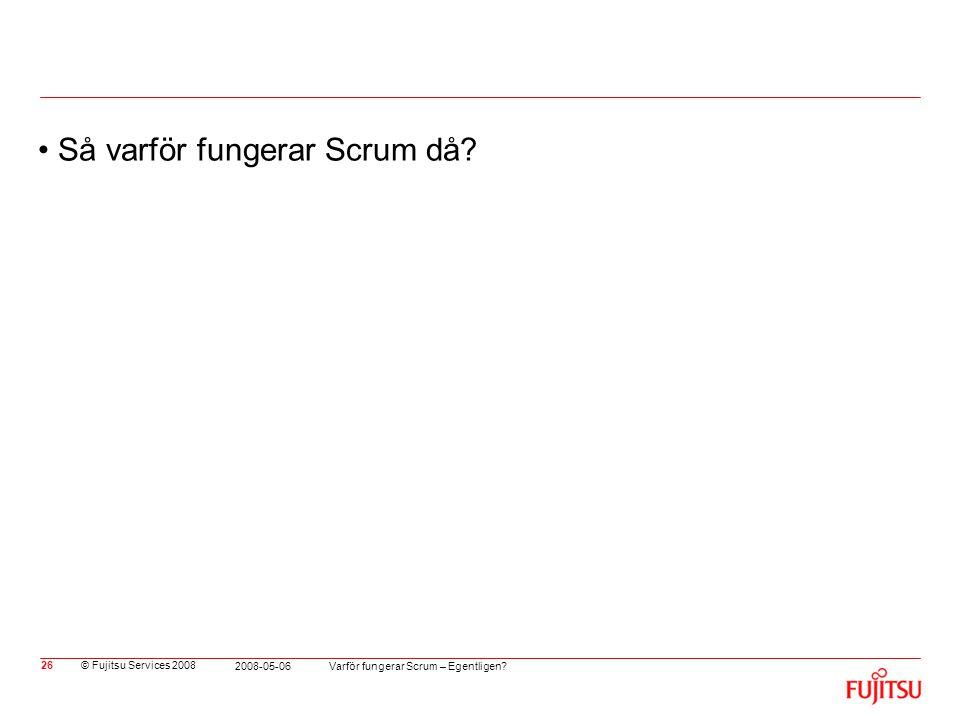 Så varför fungerar Scrum då