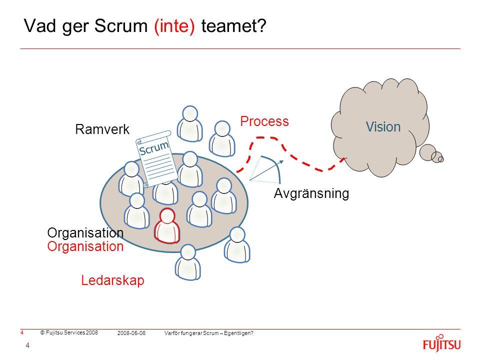 Vad ger Scrum (inte) teamet