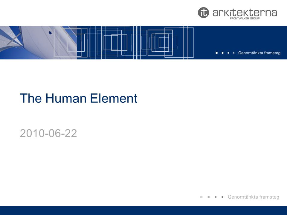 The Human Element 2010-06-22