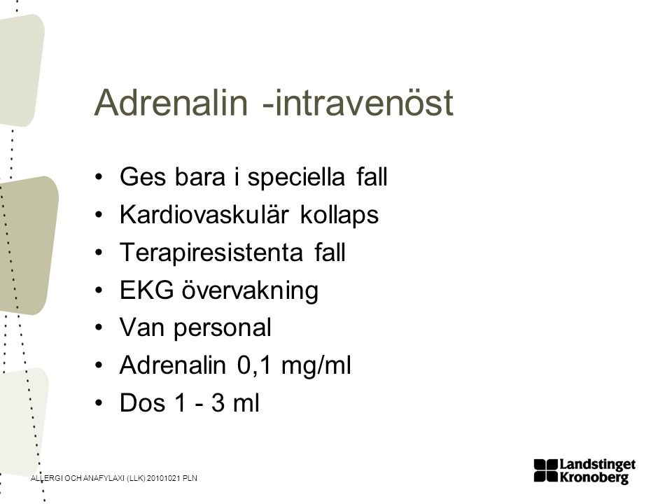 Adrenalin -intravenöst