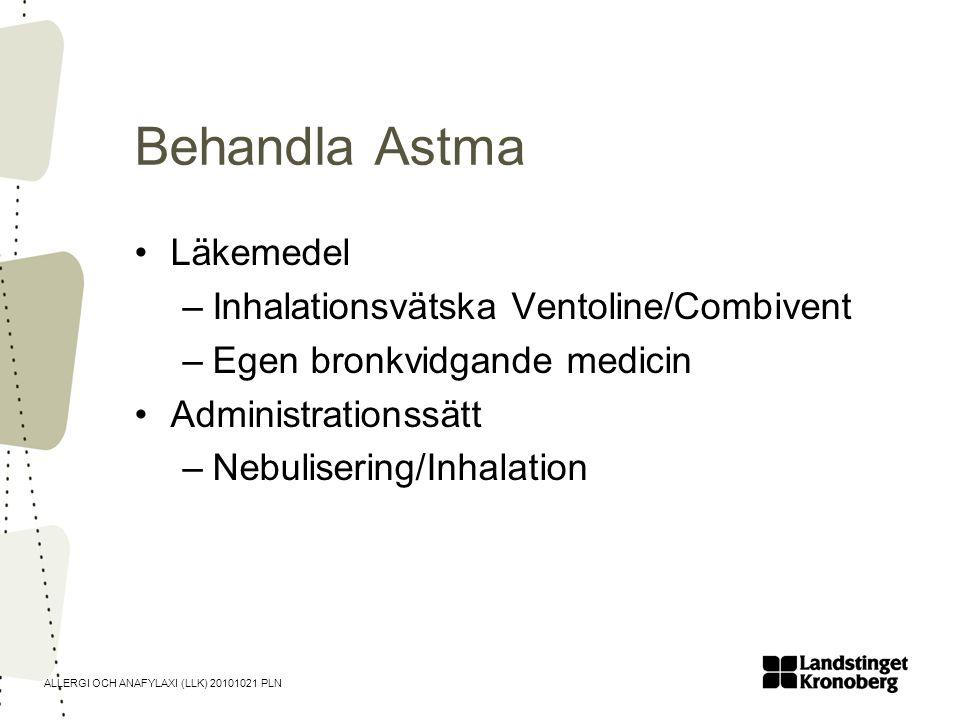 Behandla Astma Läkemedel Inhalationsvätska Ventoline/Combivent