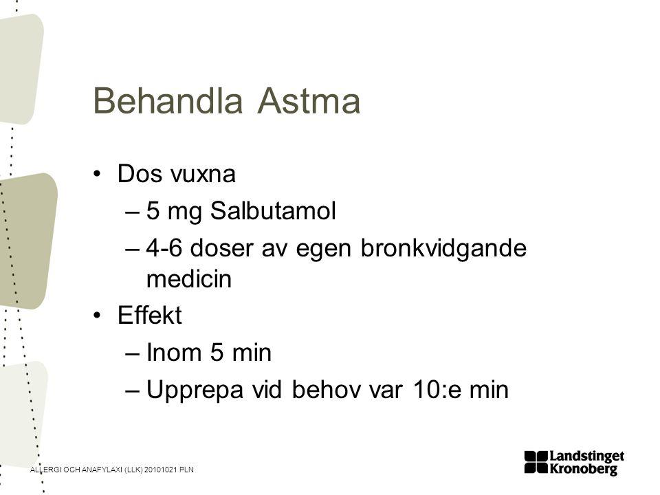 Behandla Astma Dos vuxna 5 mg Salbutamol