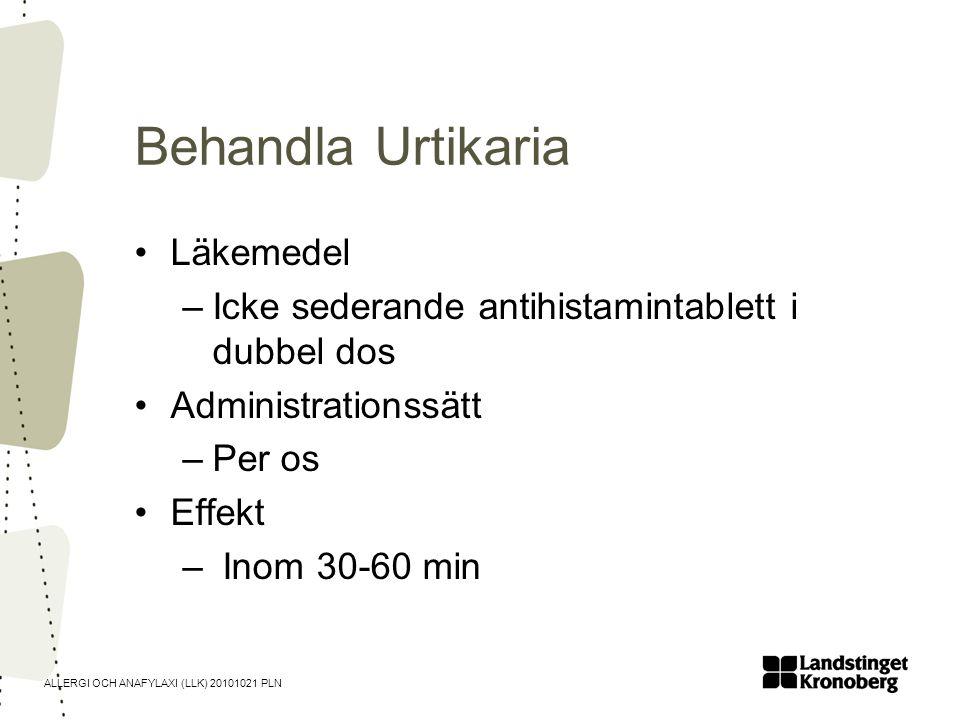 Behandla Urtikaria Läkemedel