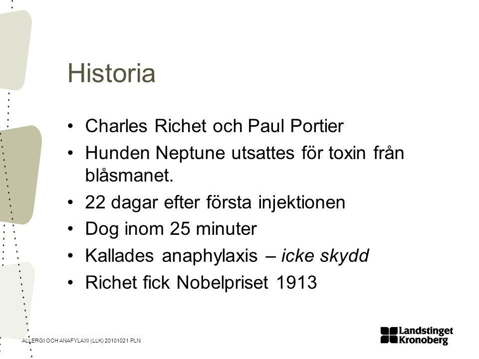 Historia Charles Richet och Paul Portier
