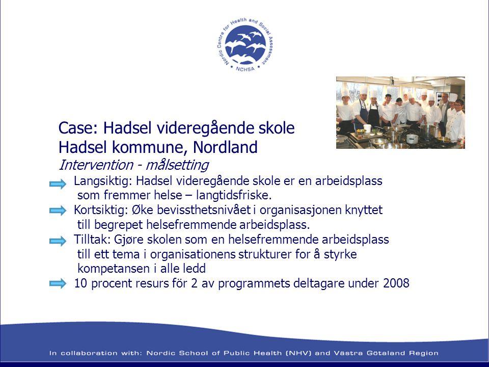 Case: Hadsel videregående skole Hadsel kommune, Nordland