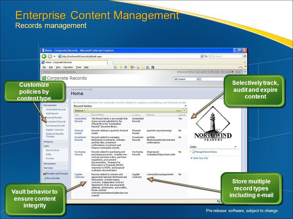Enterprise Content Management Records management