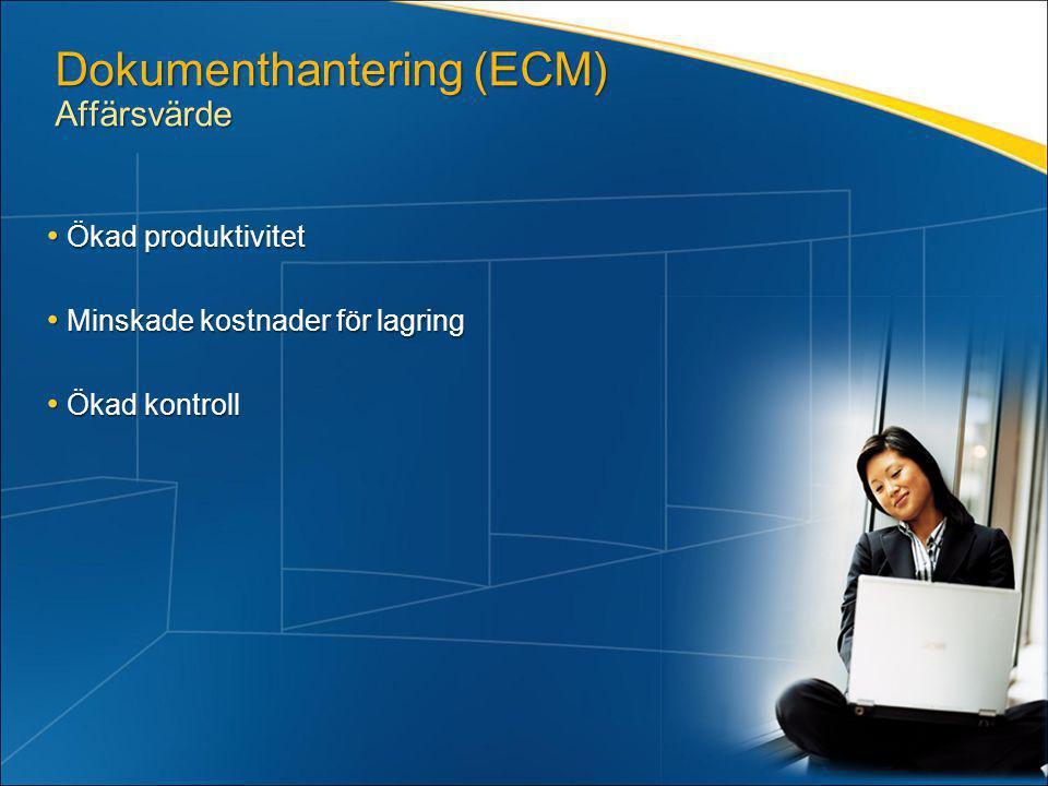 Dokumenthantering (ECM) Affärsvärde