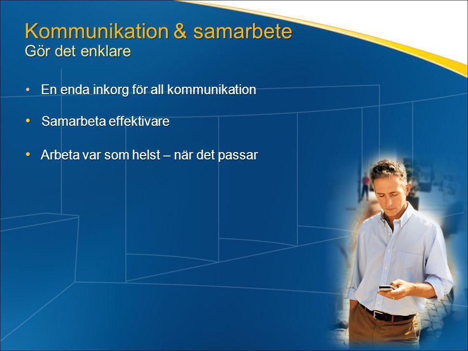 Kommunikation & samarbete Gör det enklare