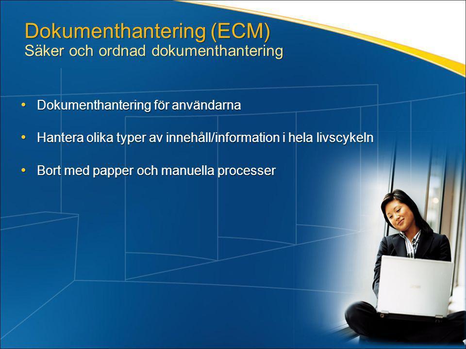 Dokumenthantering (ECM) Säker och ordnad dokumenthantering