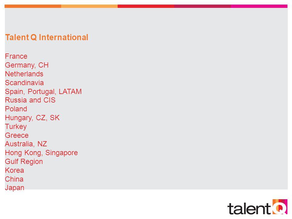 Talent Q International France. Germany, CH