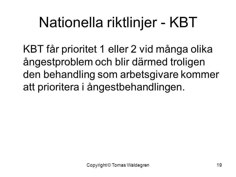 Nationella riktlinjer - KBT