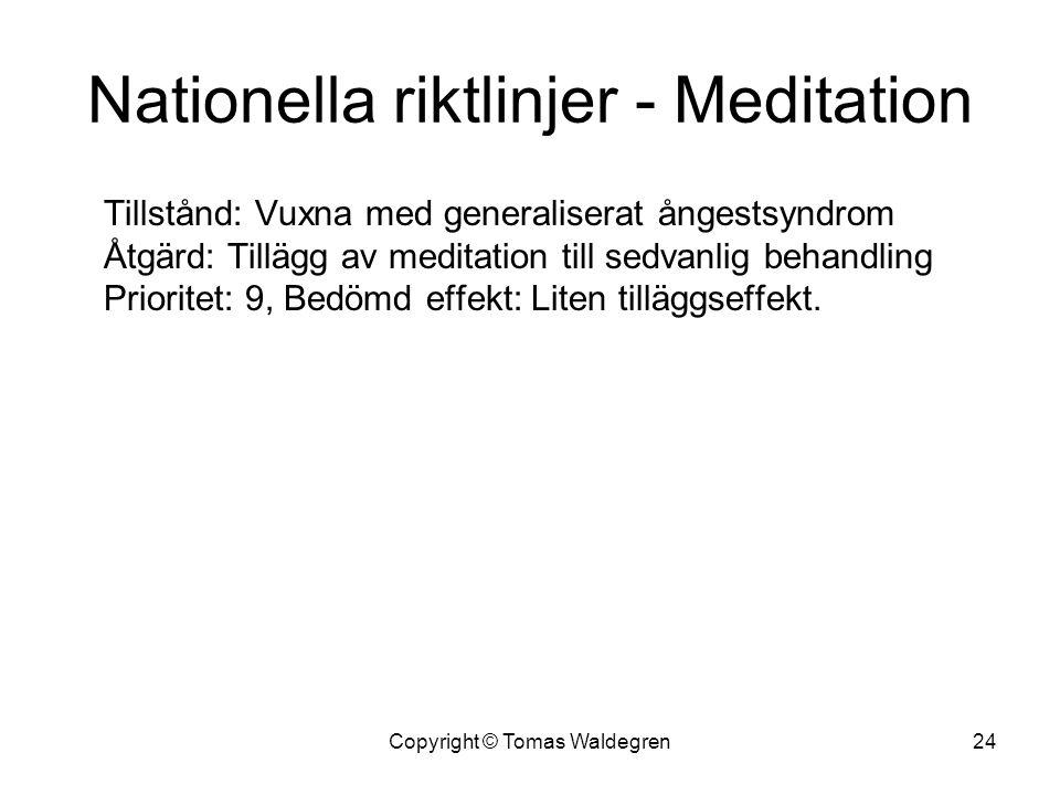 Nationella riktlinjer - Meditation