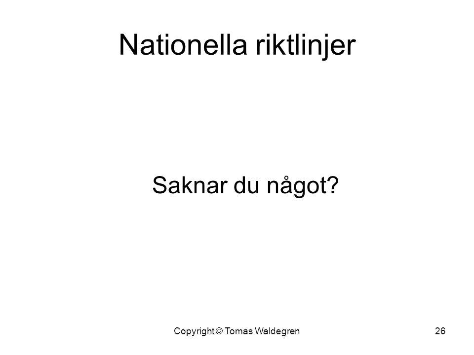 Nationella riktlinjer