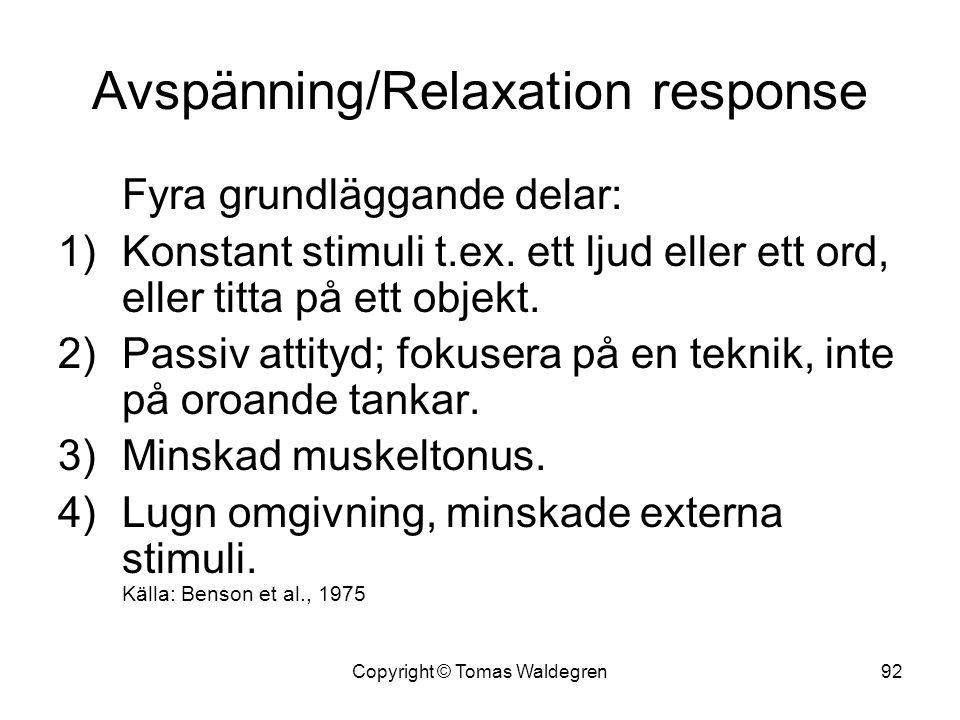 Avspänning/Relaxation response