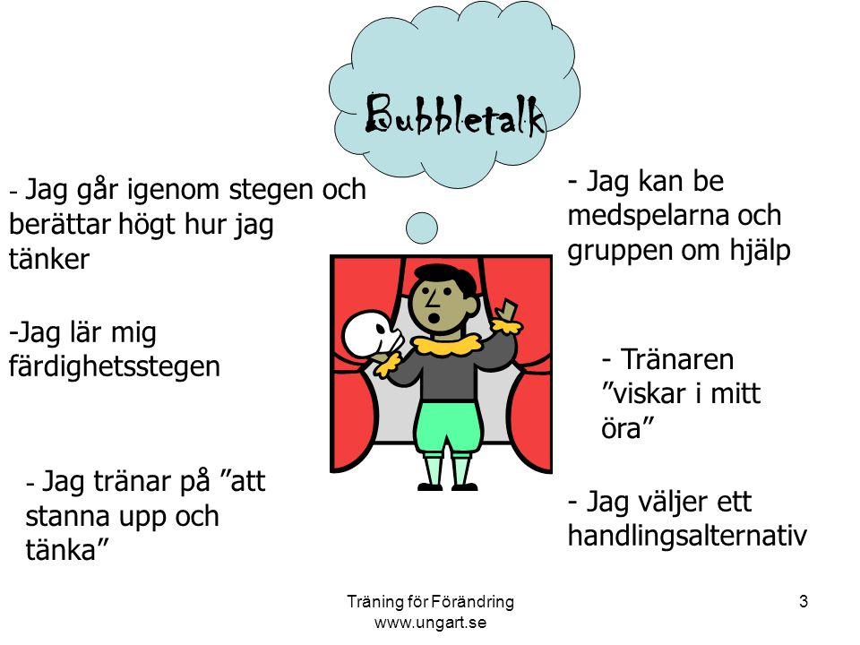 Träning för Förändring www.ungart.se