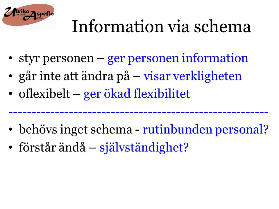 Information via schema
