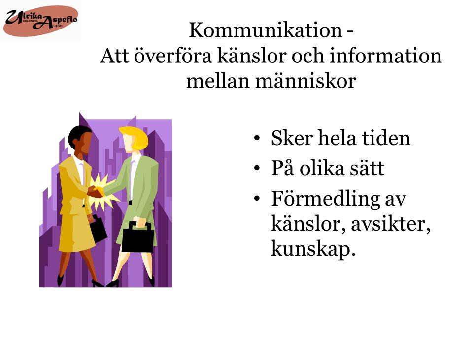 Kommunikation - Att överföra känslor och information mellan människor