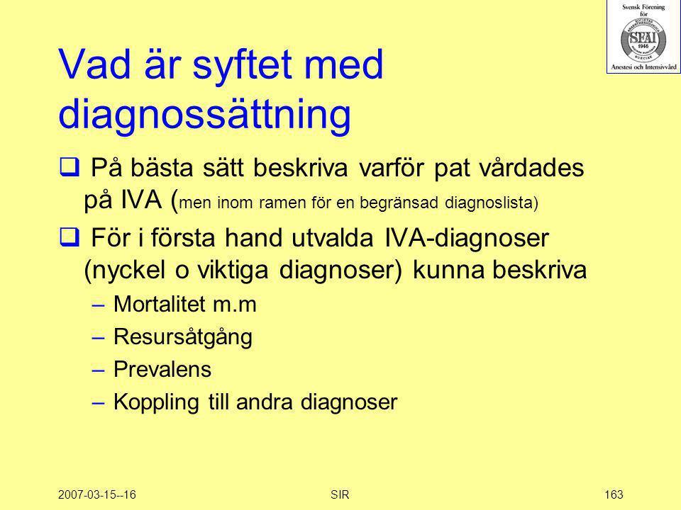 Vad är syftet med diagnossättning