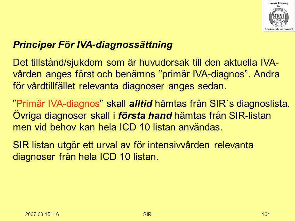 Principer För IVA-diagnossättning