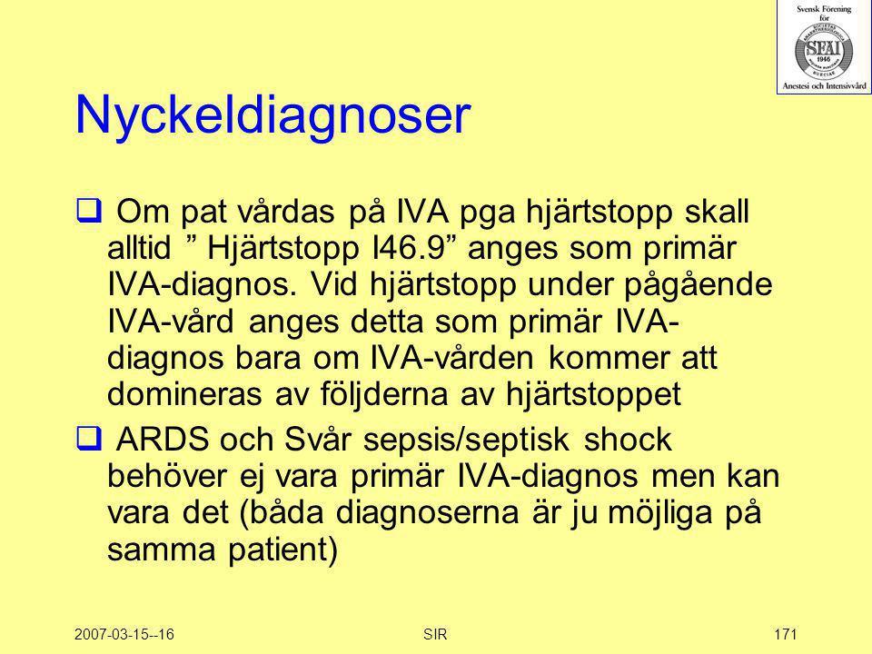 Nyckeldiagnoser