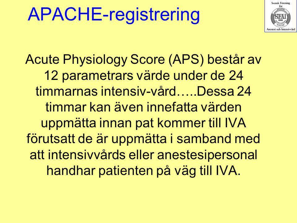 APACHE-registrering