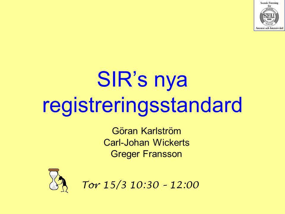 SIR's nya registreringsstandard