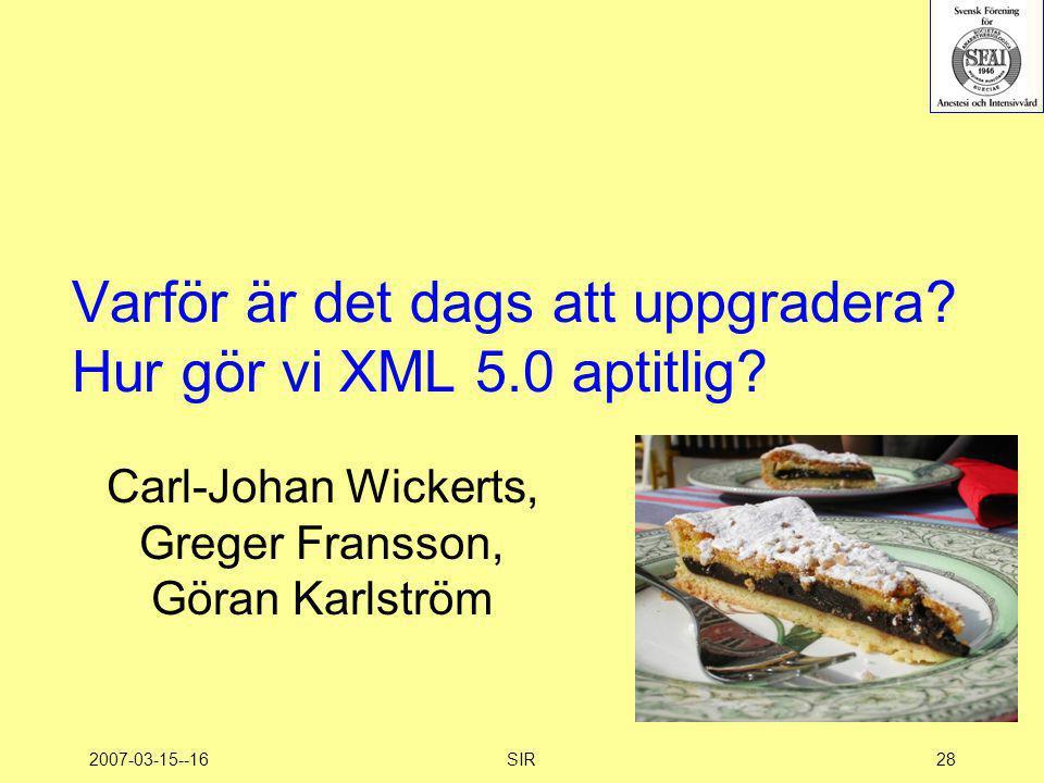 Varför är det dags att uppgradera Hur gör vi XML 5.0 aptitlig