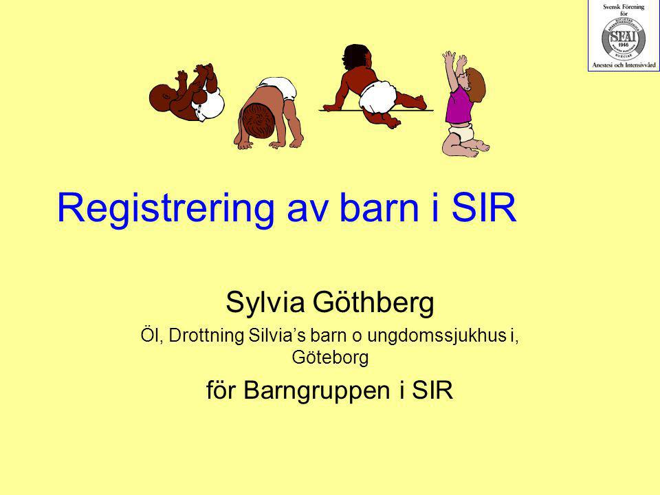 Registrering av barn i SIR