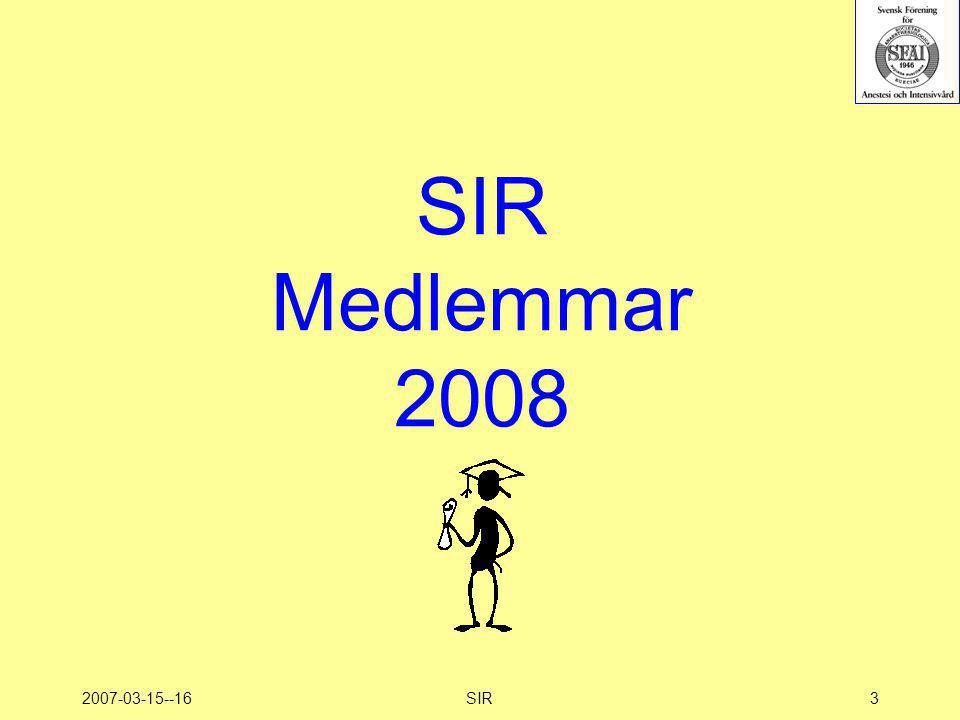 SIR Medlemmar 2008 2007-03-15--16 SIR 3