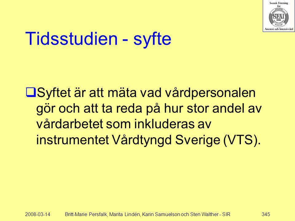 Tidsstudien - syfte