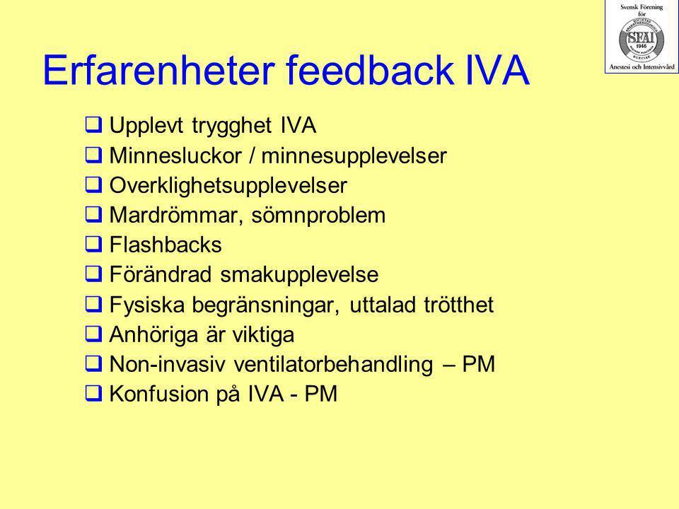 Erfarenheter feedback IVA