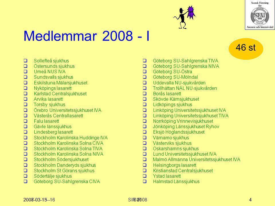 Medlemmar 2008 - I 46 st Sollefteå sjukhus Östersunds sjukhus