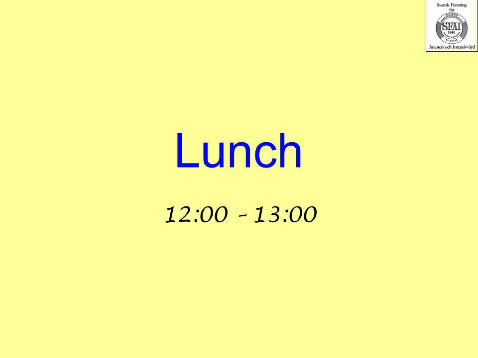 Lunch 12:00 – 13:00