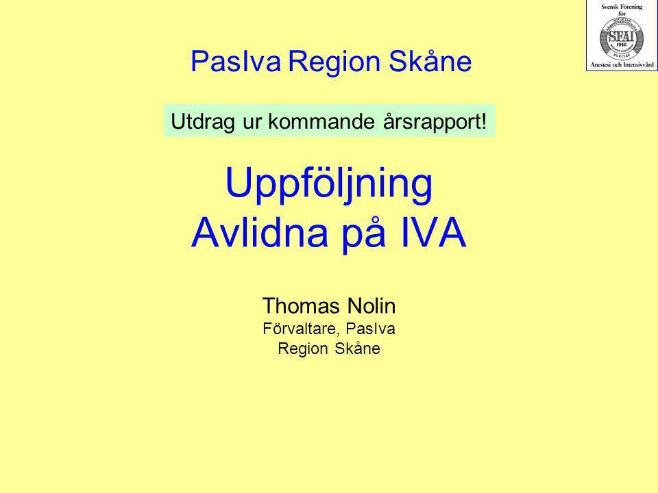 Uppföljning Avlidna på IVA