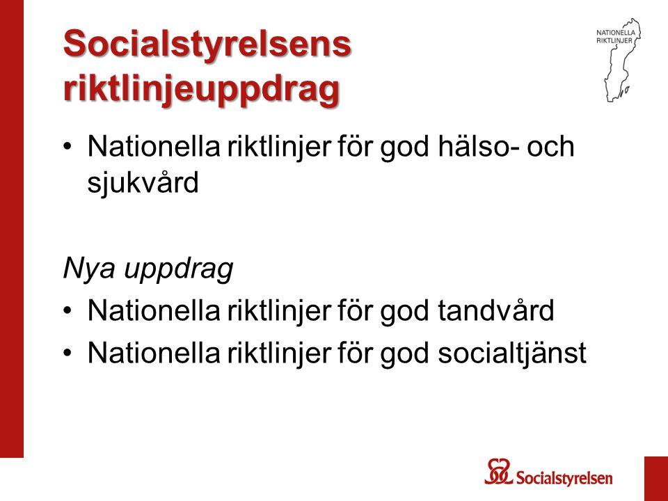 Socialstyrelsens riktlinjeuppdrag