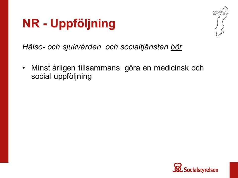 NR - Uppföljning Hälso- och sjukvården och socialtjänsten bör