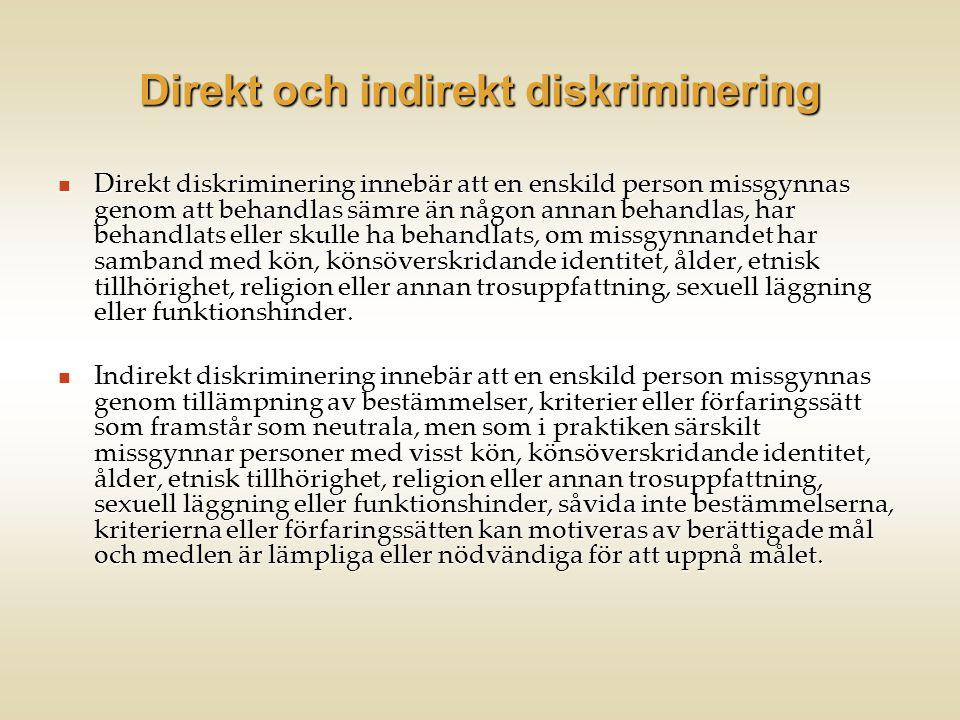 Direkt och indirekt diskriminering