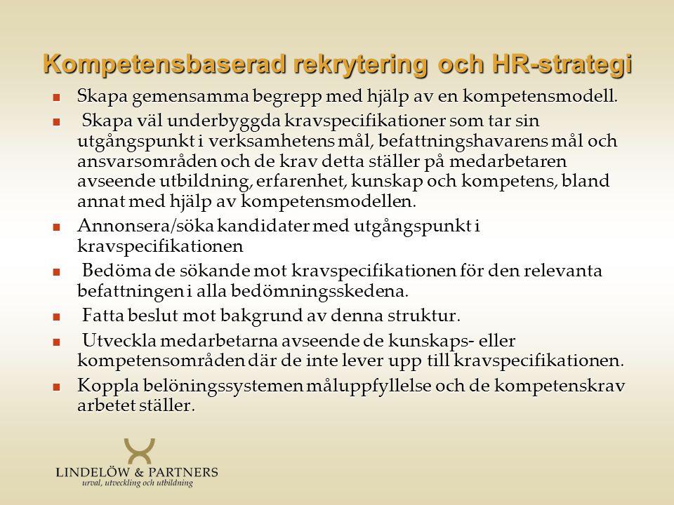 Kompetensbaserad rekrytering och HR-strategi