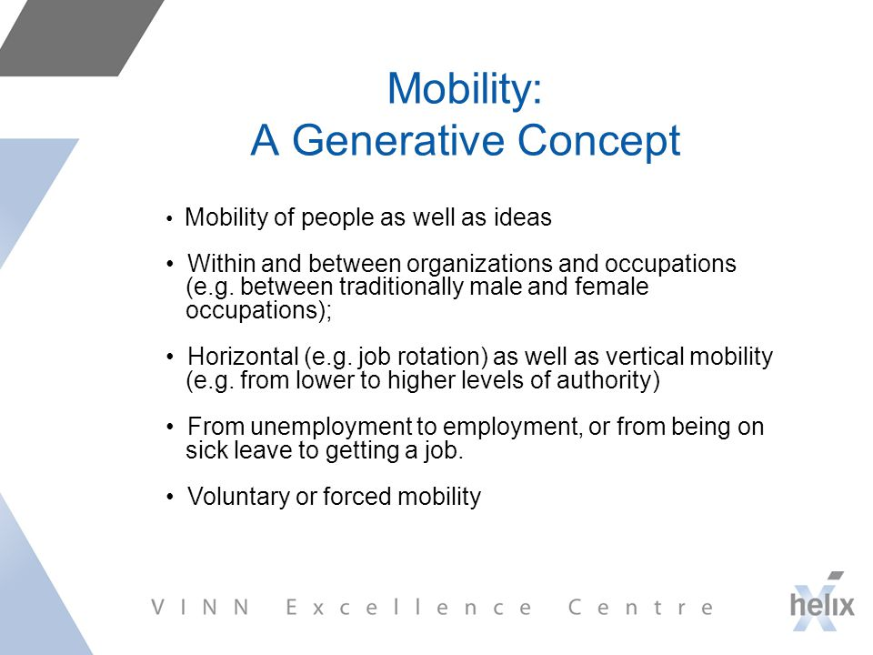 Mobility: A Generative Concept